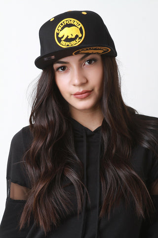 California Republic Snapback Cap - Beauty & Bronze Clothing and Accessories