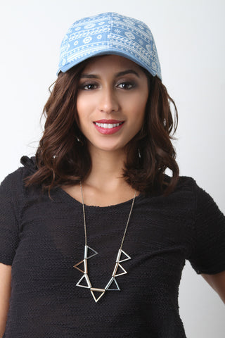 Aztec Denim Baseball Cap - Beauty & Bronze Clothing and Accessories