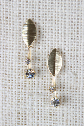 Morning Dew Dangle Stud Earrings - Beauty & Bronze Clothing and Accessories