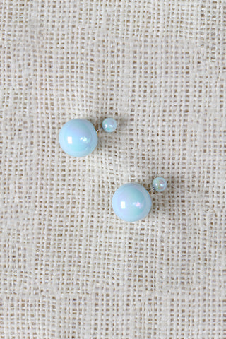Pearl Double Sided Earrings - Beauty & Bronze Clothing and Accessories
