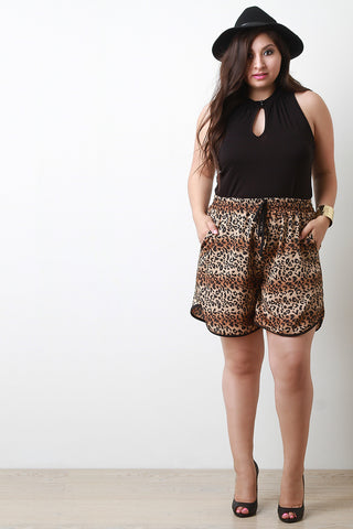 Leopard Print Shorts - Beauty & Bronze Clothing and Accessories