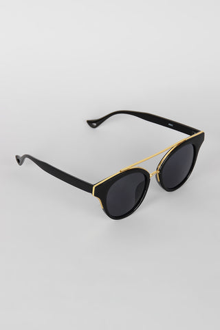 Double Bridge Contrast Cat Eye Sunglasses - Beauty & Bronze Clothing and Accessories