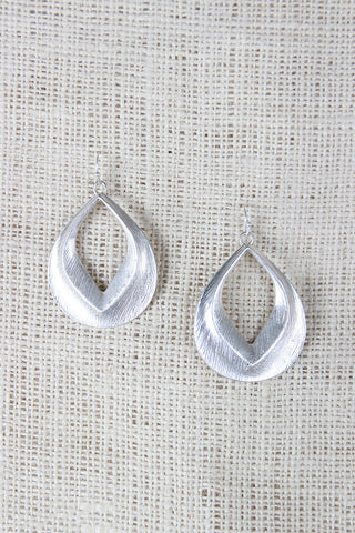 Textured Tear Drop Dangle Earings - Beauty & Bronze Clothing and Accessories