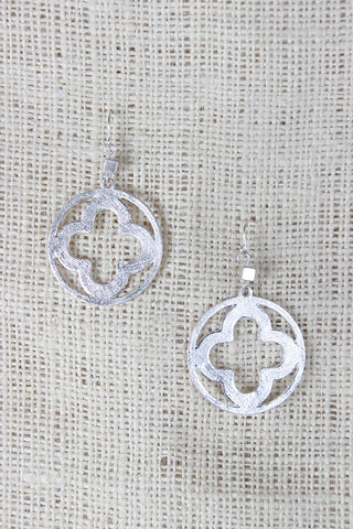Open Clover Dangle Earrings - Beauty & Bronze Clothing and Accessories