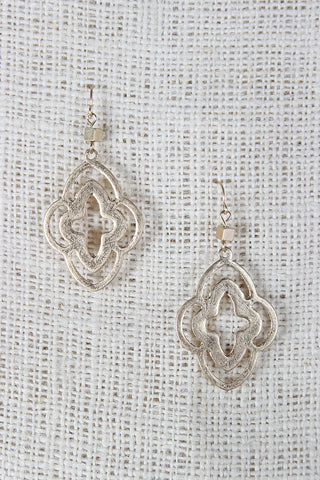 Open Moroccan Shaped Dangle Earrings - Beauty & Bronze Clothing and Accessories