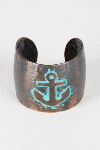 Anchors Away Bronze Cuff - Beauty & Bronze Clothing and Accessories