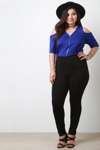 High Waisted Skinny Pants - Beauty & Bronze Clothing and Accessories