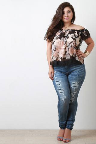 Distressed Skinny Jeans - Beauty & Bronze Clothing and Accessories