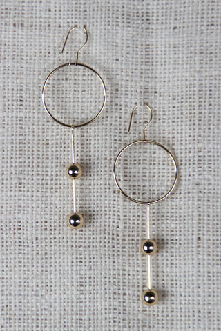 Circles And Spheres Drop Earrings - Beauty & Bronze Clothing and Accessories