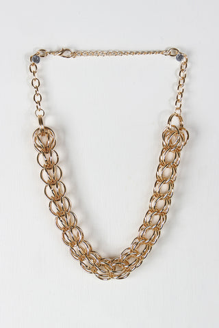 Woven Link Chain Necklace Set - Beauty & Bronze Clothing and Accessories
