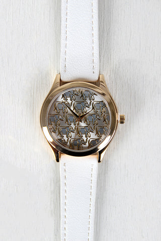 Elephant and Rhinestones Watch - Beauty & Bronze Clothing and Accessories