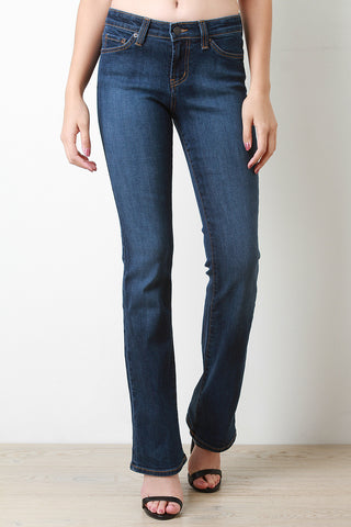 Tanzanite Wash Boot Flare Jeans - Beauty & Bronze Clothing and Accessories