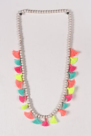 Colorful Beaded Elastic Necklace - Beauty & Bronze Clothing and Accessories