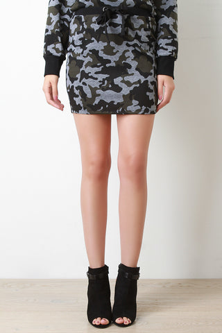 Camouflage Sweater Skirt - Beauty & Bronze Clothing and Accessories