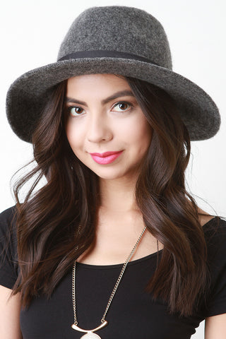 Felted Wool Fedora Hat - Beauty & Bronze Clothing and Accessories