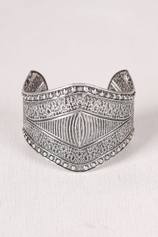 Medieval Engraved Cuff Bracelet - Beauty & Bronze Clothing and Accessories