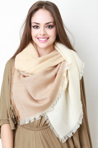 Color Blocked Blanket Scarf - Beauty & Bronze Clothing and Accessories