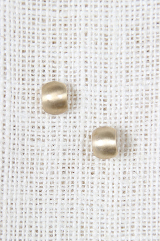 Curve Brushed Metal Stud Earrings - Beauty & Bronze Clothing and Accessories