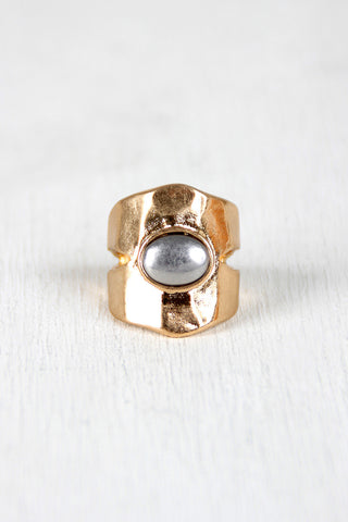 Prized Silver Stone Cutout Ring - Beauty & Bronze Clothing and Accessories