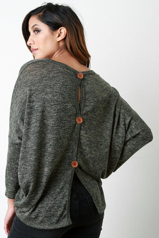Button Me Up The Back Sweater - Beauty & Bronze Clothing and Accessories