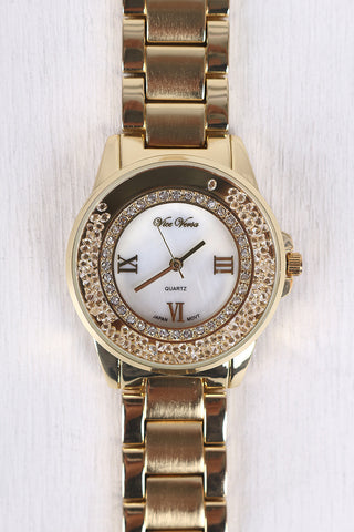Around The Clock Sparkle Watch - Beauty & Bronze Clothing and Accessories