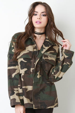 Army Brat Twill Jacket - Beauty & Bronze Clothing and Accessories