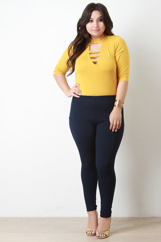 Plus Size Texture Knit Legging Pants - Beauty & Bronze Clothing and Accessories
