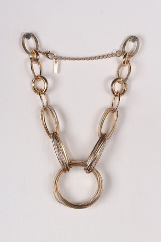 Statement Chain Link Necklace Set - Beauty & Bronze Clothing and Accessories