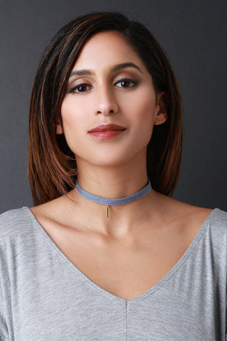 Charmed Denim Choker - Beauty & Bronze Clothing and Accessories