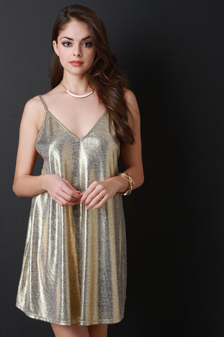 Gold Member Mini Shift Dress - Beauty & Bronze Clothing and Accessories