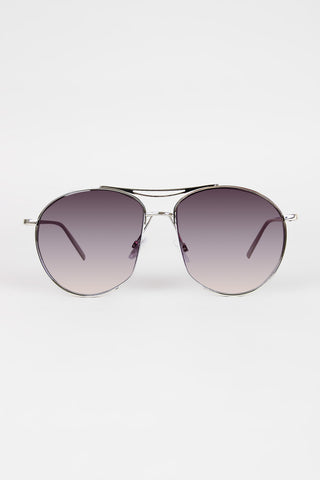 Long Semi Framed Wire Aviator Sunglasses - Beauty & Bronze Clothing and Accessories