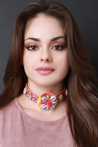 Colorful Shell Choker - Beauty & Bronze Clothing and Accessories