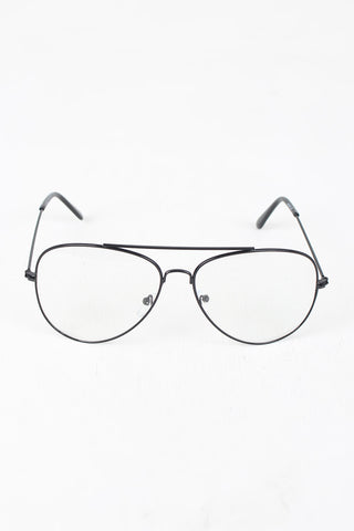 Wire Aviator Clear Lens Glasses - Beauty & Bronze Clothing and Accessories