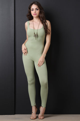 Casual Sleeveless Square Neck Jumpsuit - Beauty & Bronze Clothing and Accessories