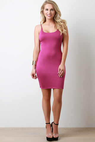 Jersey Knit Cami Bodycon Midi Dress