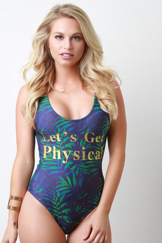 Leafy Let's Get Physical Swimsuit