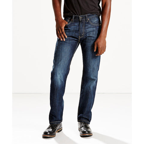 Levi's Men's Shoestring Blue 505 Regular Fit Jeans - Beauty & Bronze Clothing and Accessories