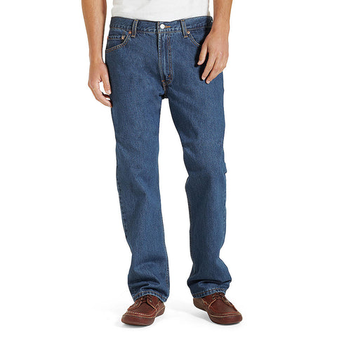 Levi's Dark Stonewash Mens 505 Regular Fit Jean - Beauty & Bronze Clothing and Accessories