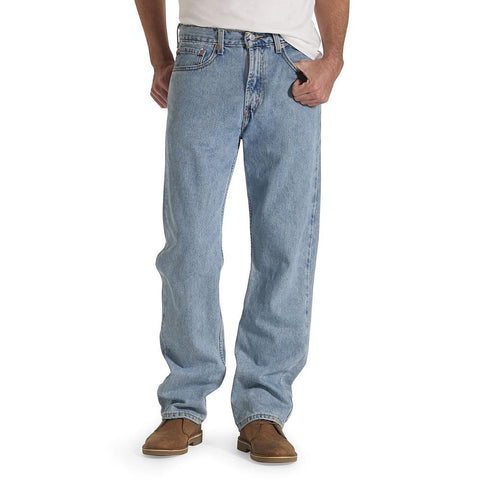 Levi's Men's Light Stonewash 505 Regular Fit Jeans - Beauty & Bronze Clothing and Accessories
