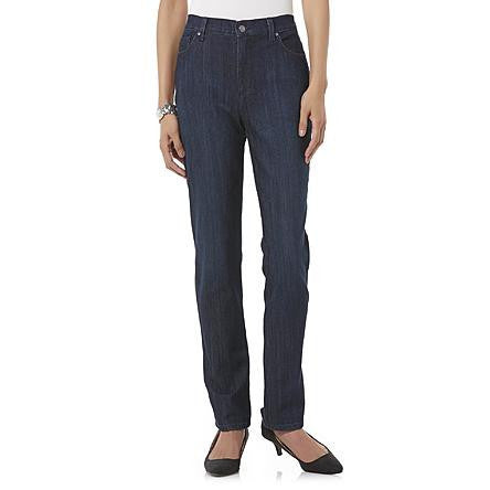 Gloria Vanderbilt Women's Amanda Dark Blue Embellished Jeans - Beauty & Bronze Clothing and Accessories