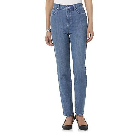 Gloria Vanderbilt Women's Amanda Blue Embellished Jeans - Beauty & Bronze Clothing and Accessories