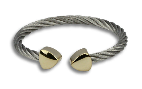 Ophelia silver cuff with gold accent - Beauty & Bronze Clothing and Accessories