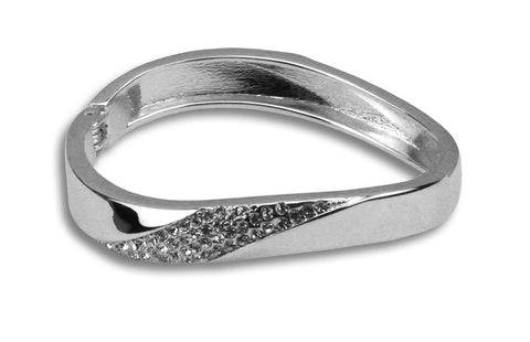 Nicole bejewelled silver bangle - Beauty & Bronze Clothing and Accessories