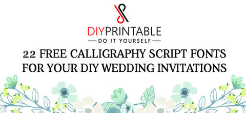 22 Free Calligraphy Script Fonts for Your DIY Wedding Invitations