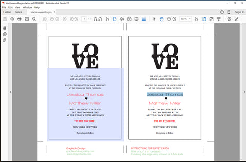How to Make A Printable Wedding Invitation