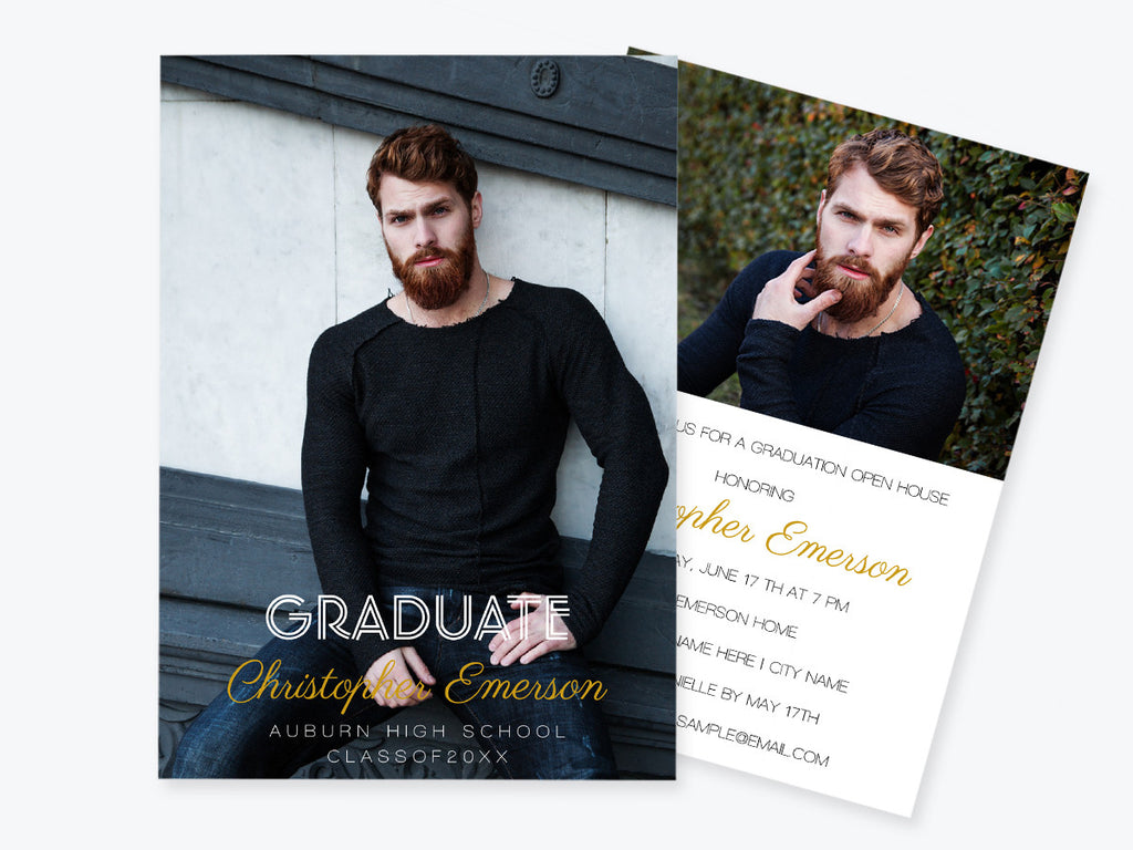 Graduation Announcement Photo Invitation Template