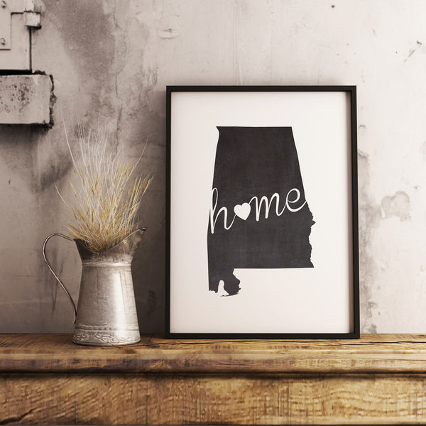 Alabama Wall Art Chalkboard Home Printable Poster