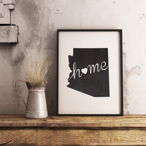 Arizona Wall Art Chalkboard Home Printable Poster - DIYprintable