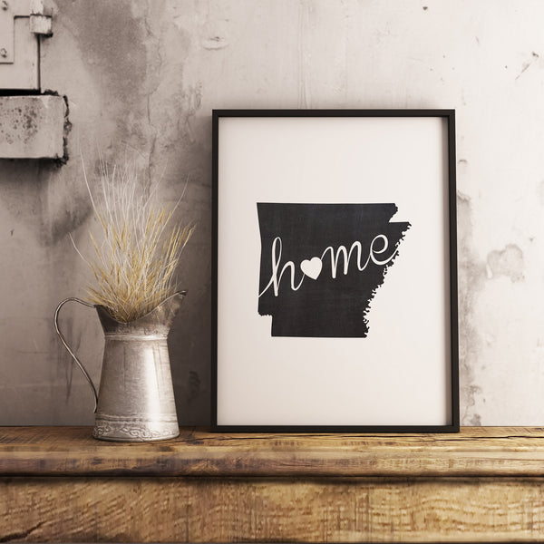 Arkansas Wall Art Chalkboard Home Printable Poster - DIYprintable