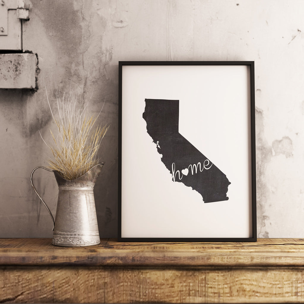 California Wall Art Chalkboard Home Printable Poster - DIYprintable